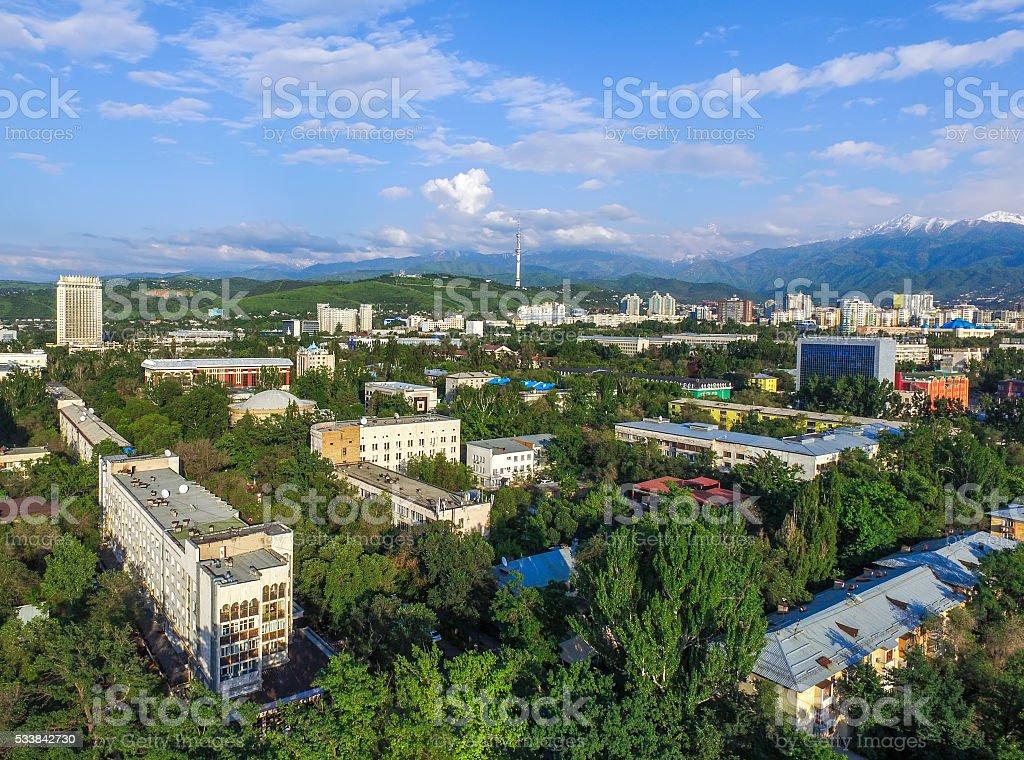 Almaty - Aerial view stock photo