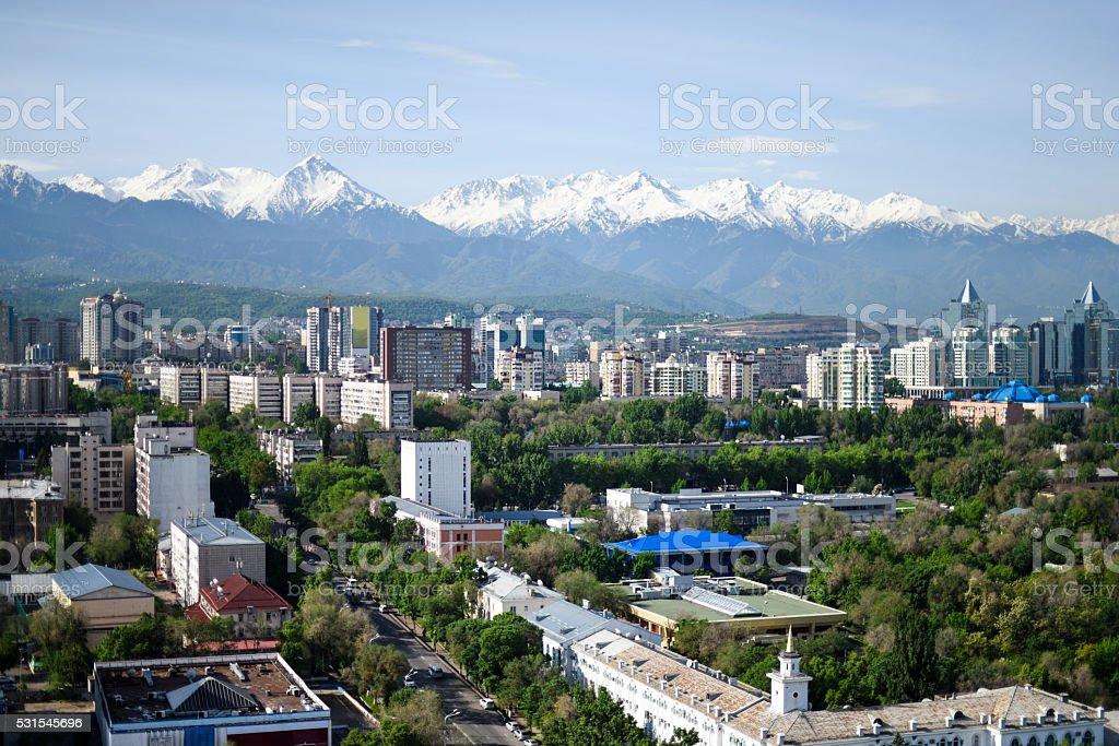 Almaty City Panorama stock photo