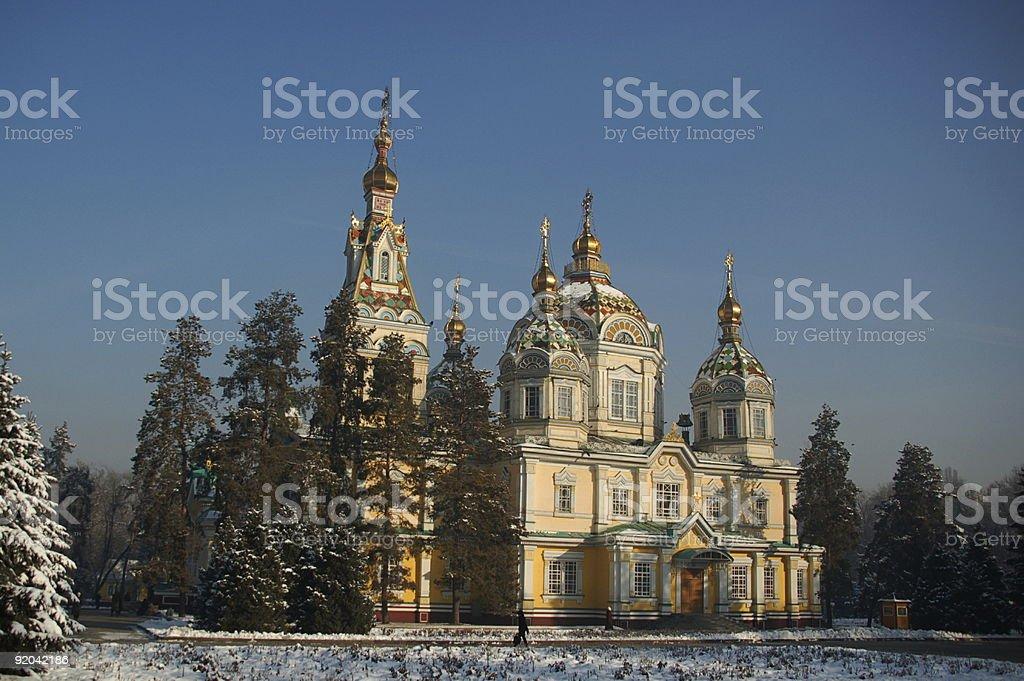 Ałma-Ata Kościół prawosławny Katedra zbiór zdjęć royalty-free