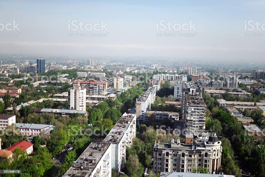 Almaty Panorama stock photo