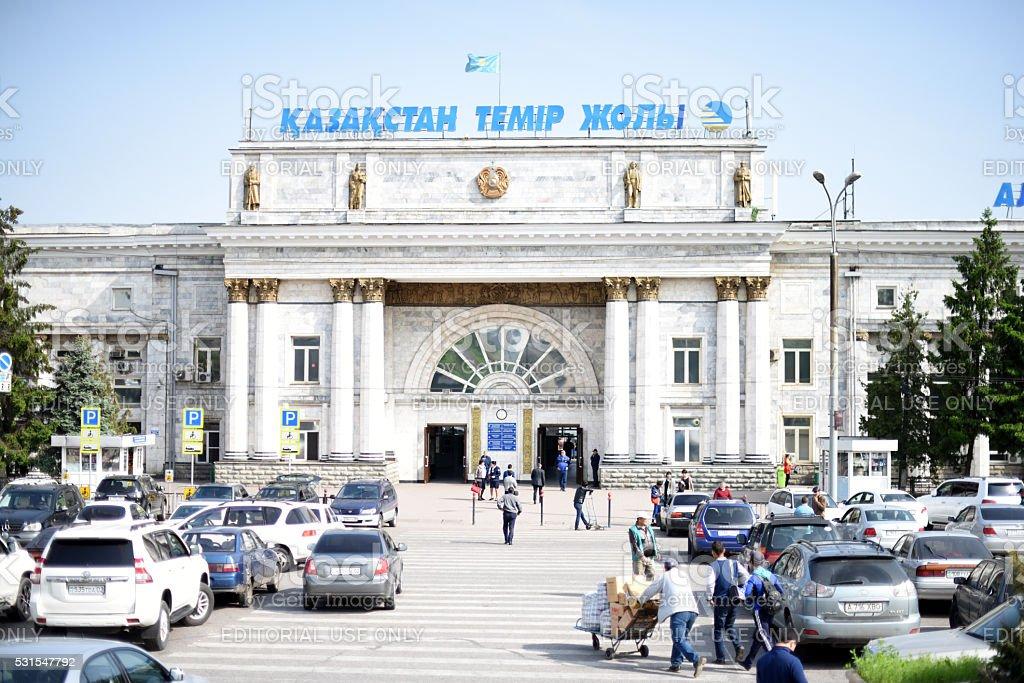 Almaty Railway Station 2 stock photo