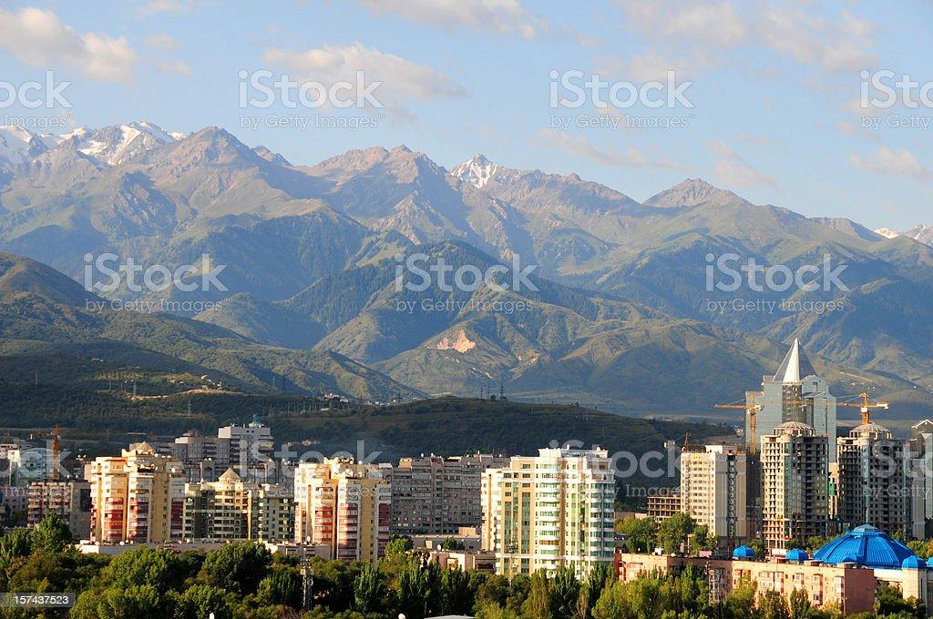 Almaty skyline stock photo