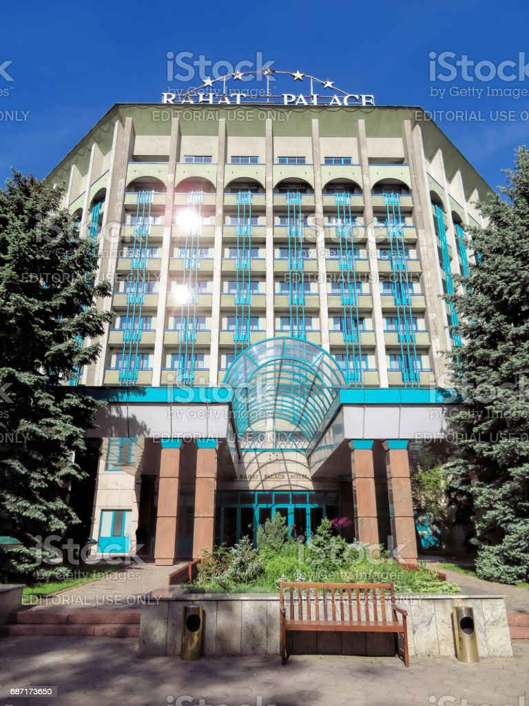 Almaty - The Rahat Palace Hotel stock photo