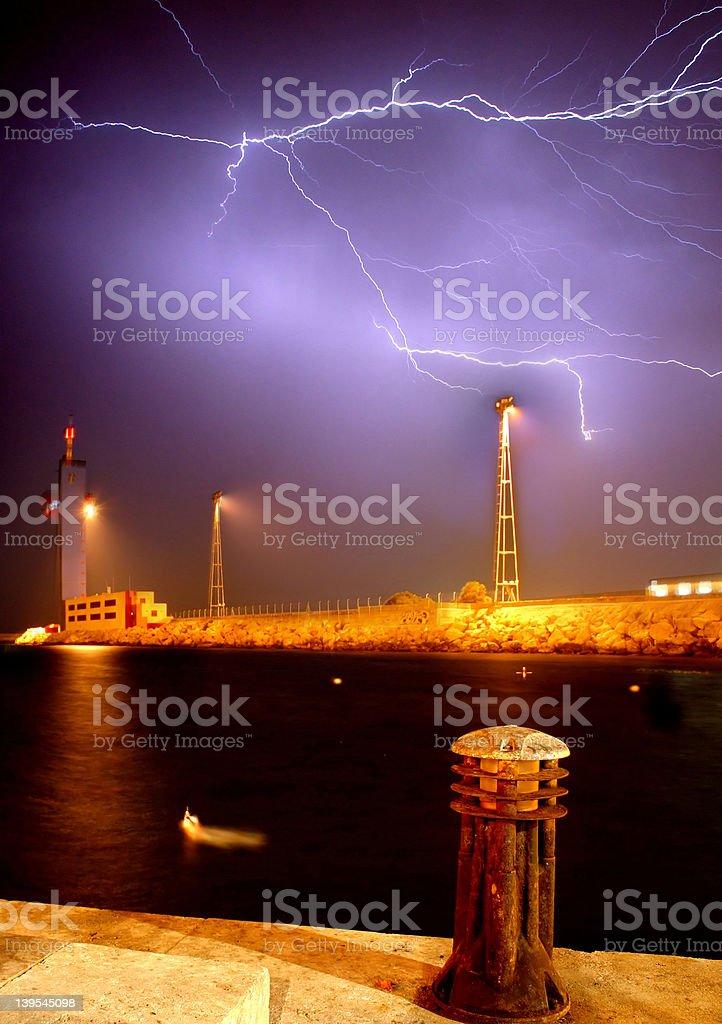 Almeria Lightning royalty-free stock photo