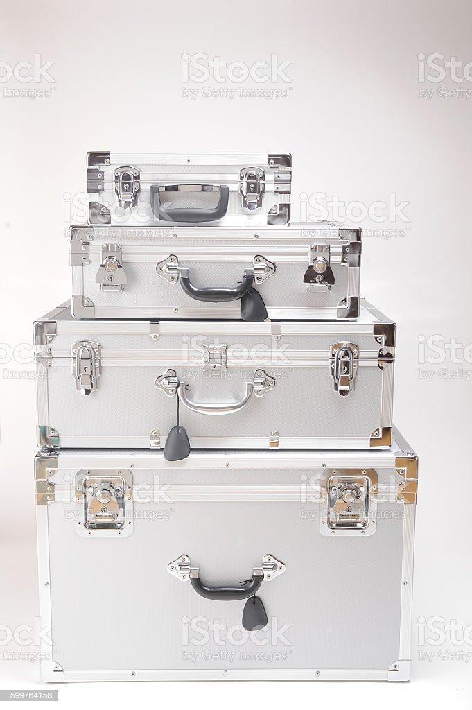 Alminum cases stock photo