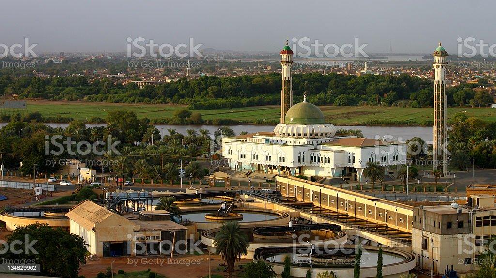 Al-Mogran Mosque stock photo