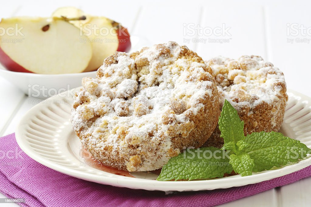 almond and caramel cookies stock photo