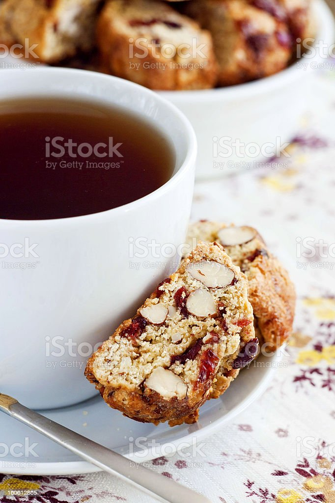 Almond and cranberries biscotti royalty-free stock photo