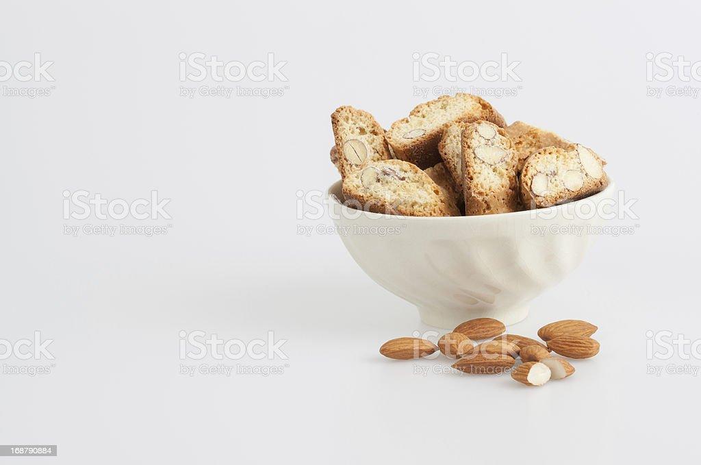 Almond bicotti royalty-free stock photo