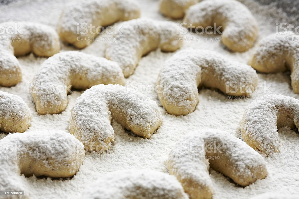 Almond biscuits stock photo