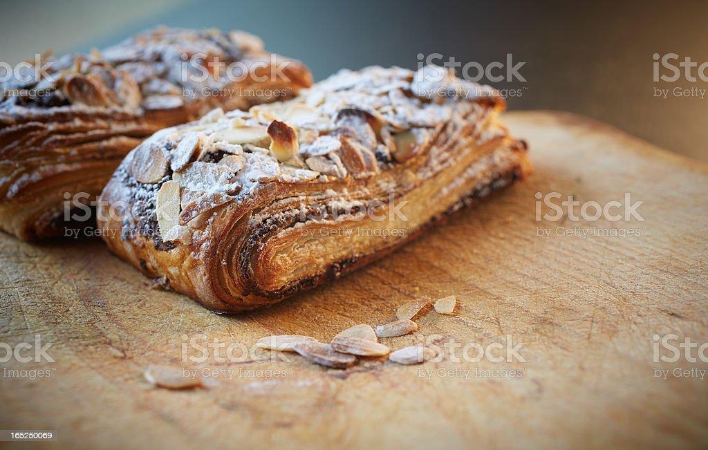 Almond chocolate croissant royalty-free stock photo