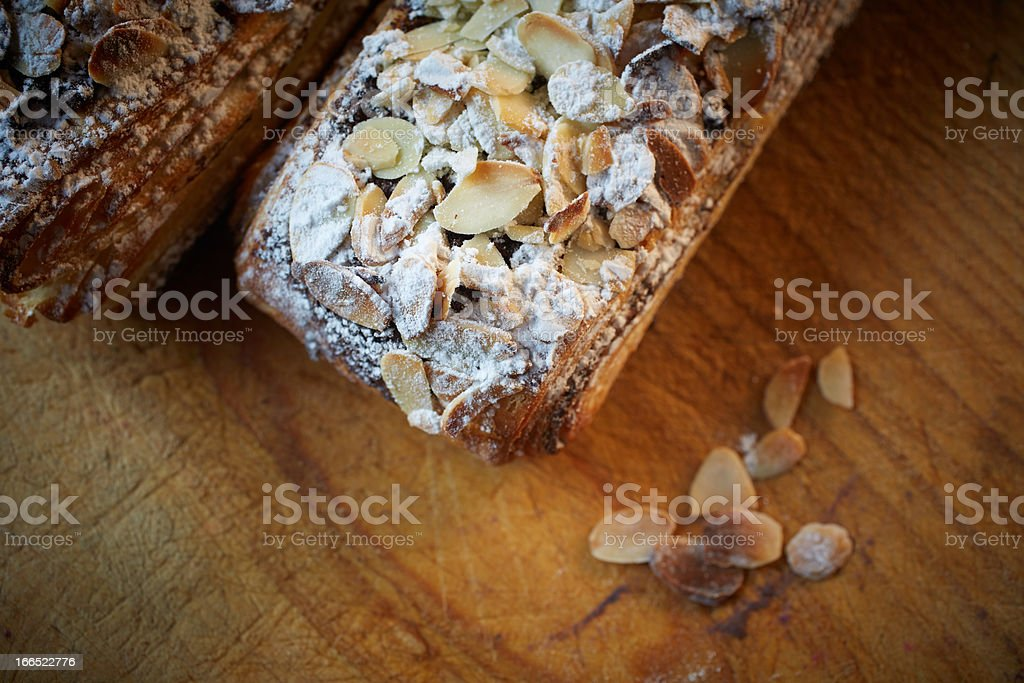 Almond chocolate croissant royalty-free stock photo