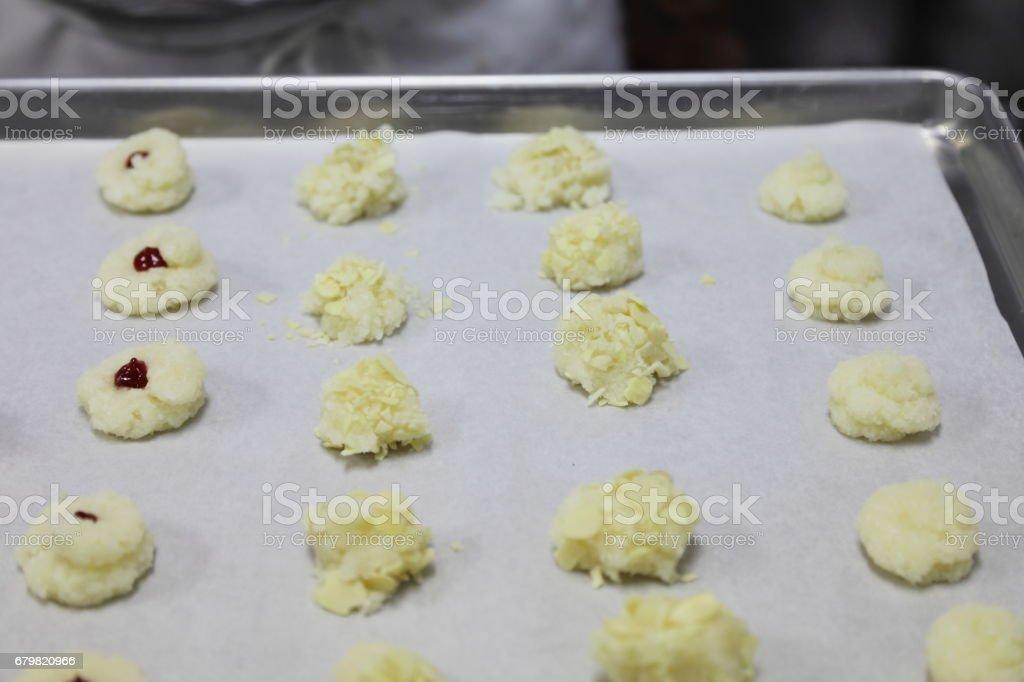Almond cookie, macaroons. stock photo