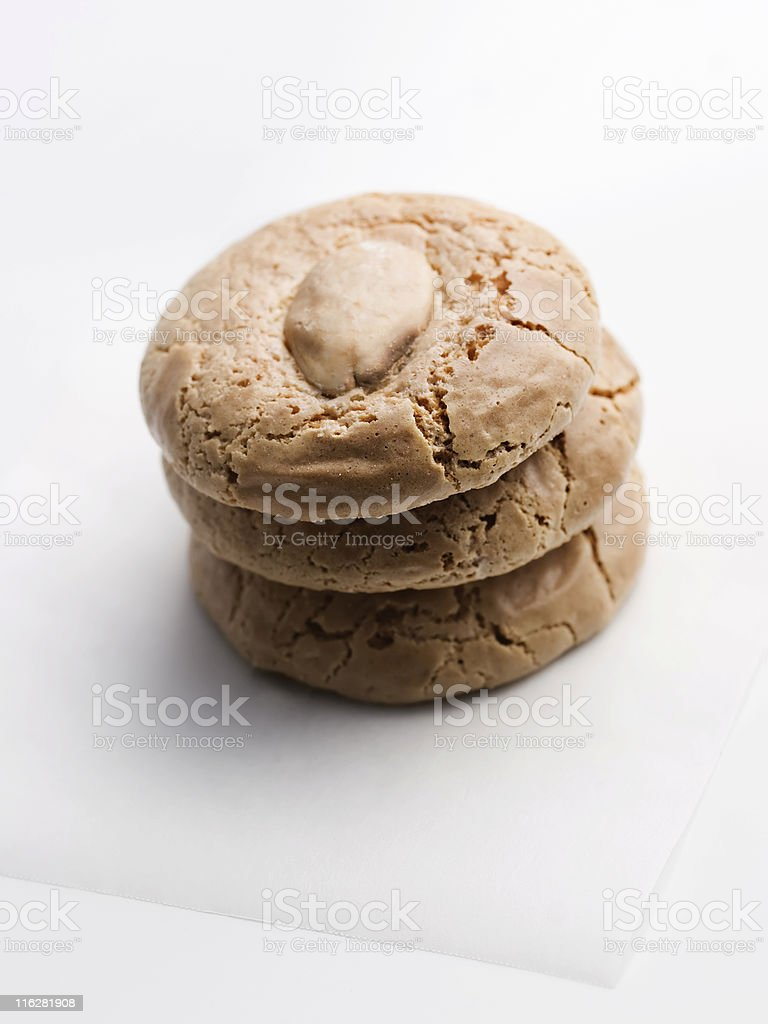 Almond cookies royalty-free stock photo
