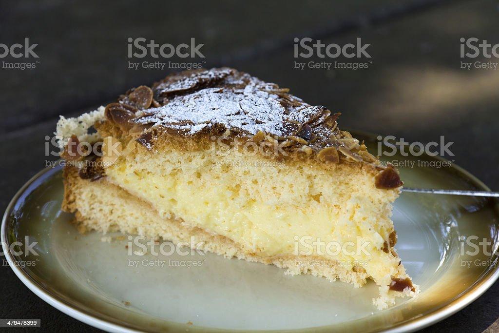 Almond Cream Pie royalty-free stock photo