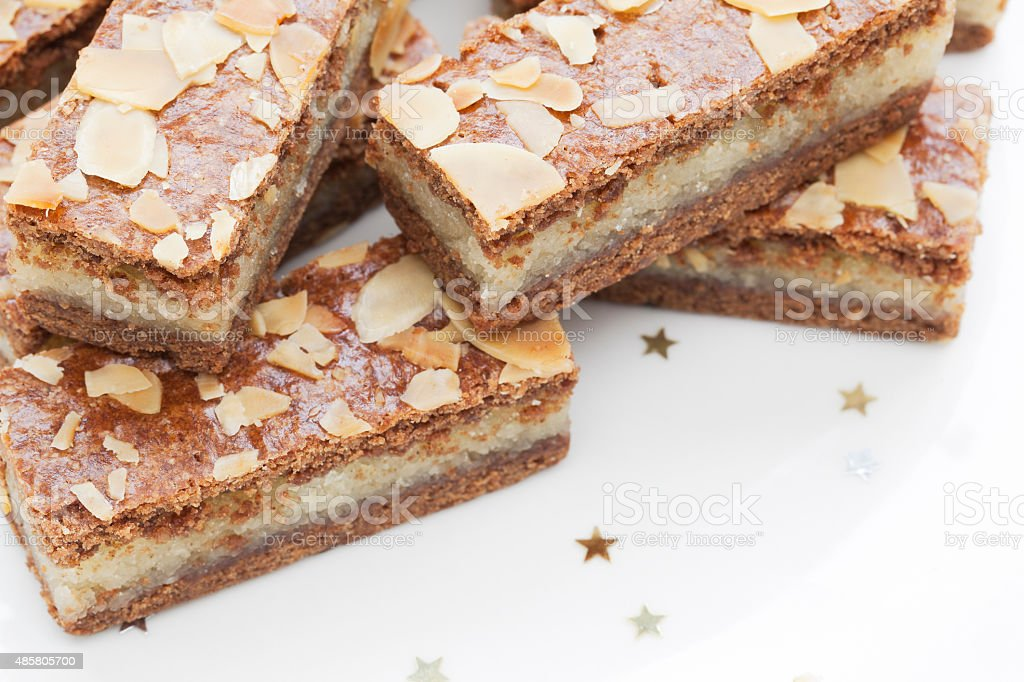 Almond Filled Speculaas stock photo