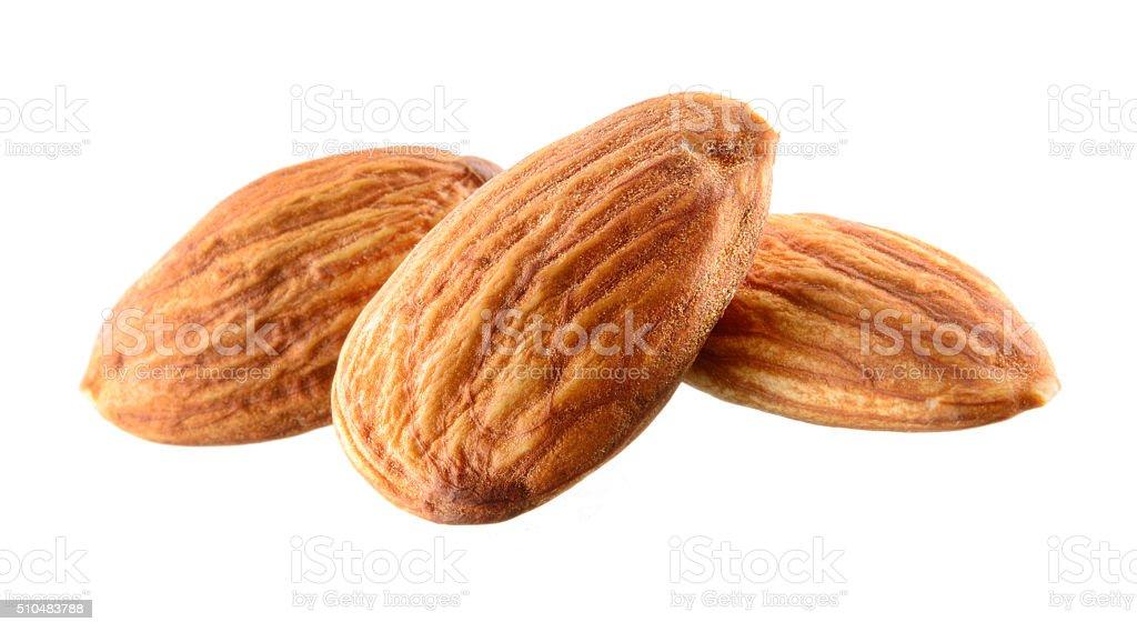 Almond isolated on white background stock photo
