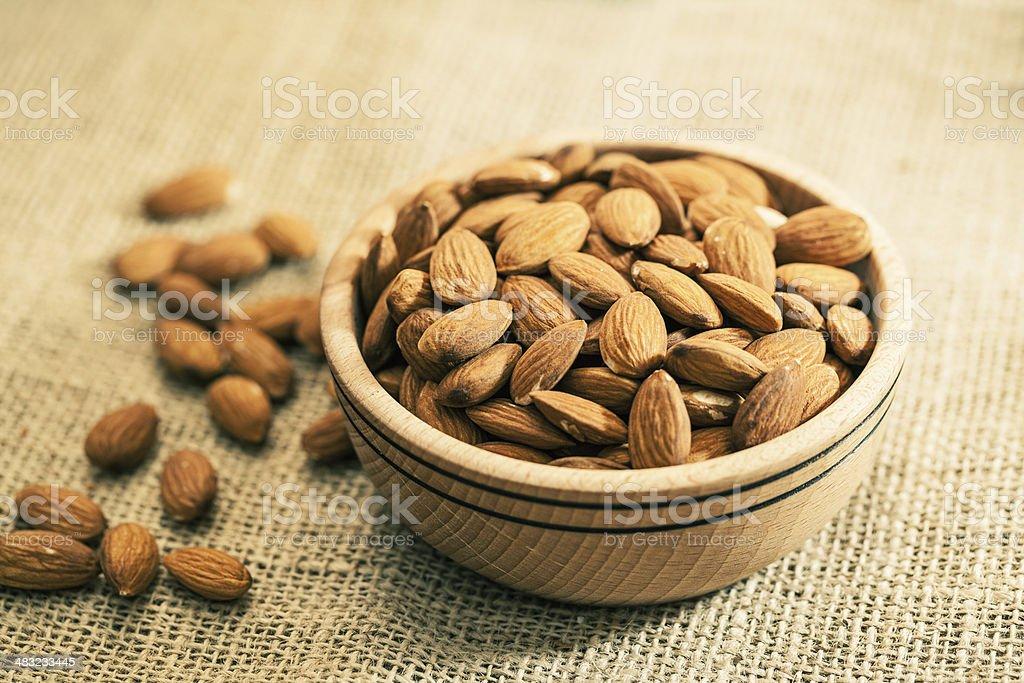 Almond kernels stock photo