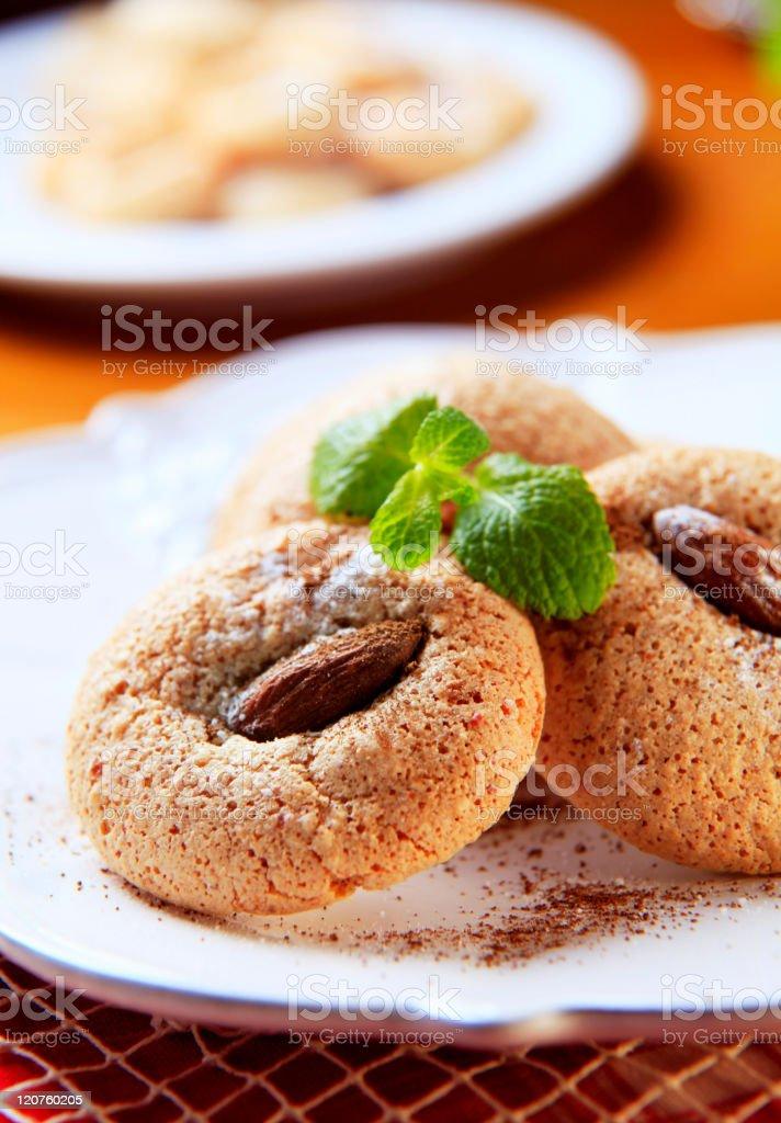 Almond macaroons royalty-free stock photo