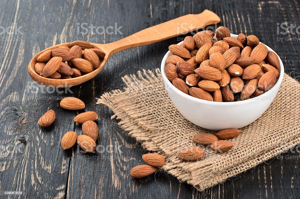 Almond nuts stock photo