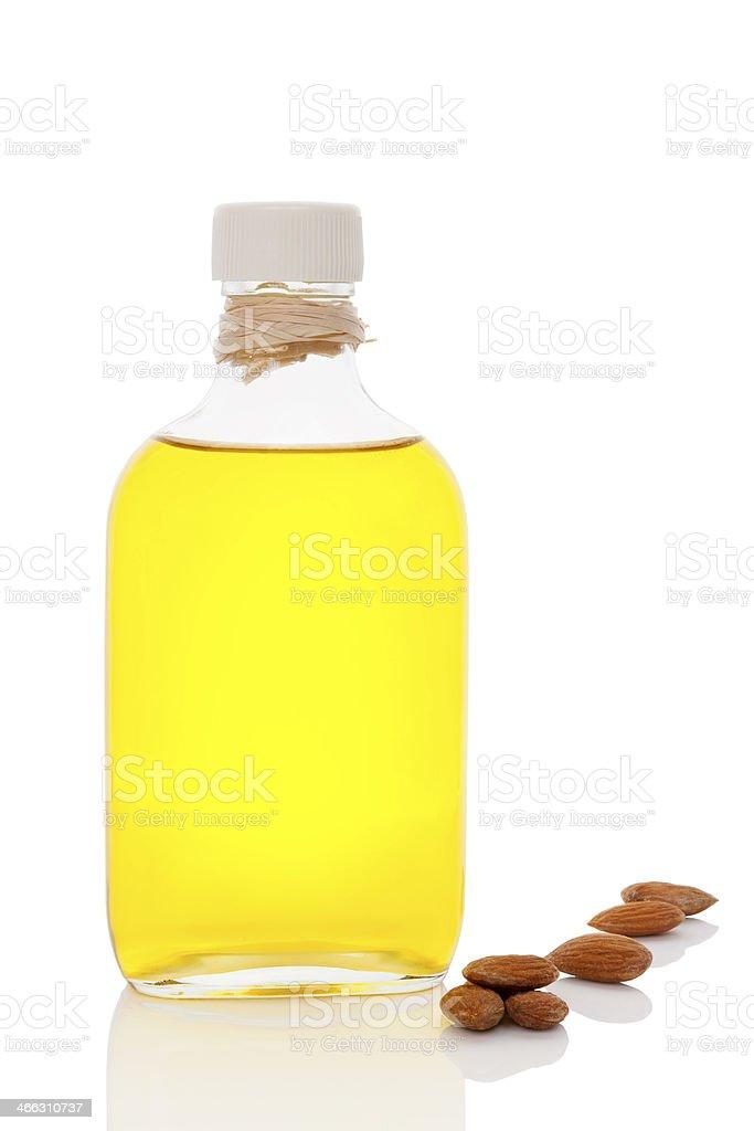Almond oil. stock photo