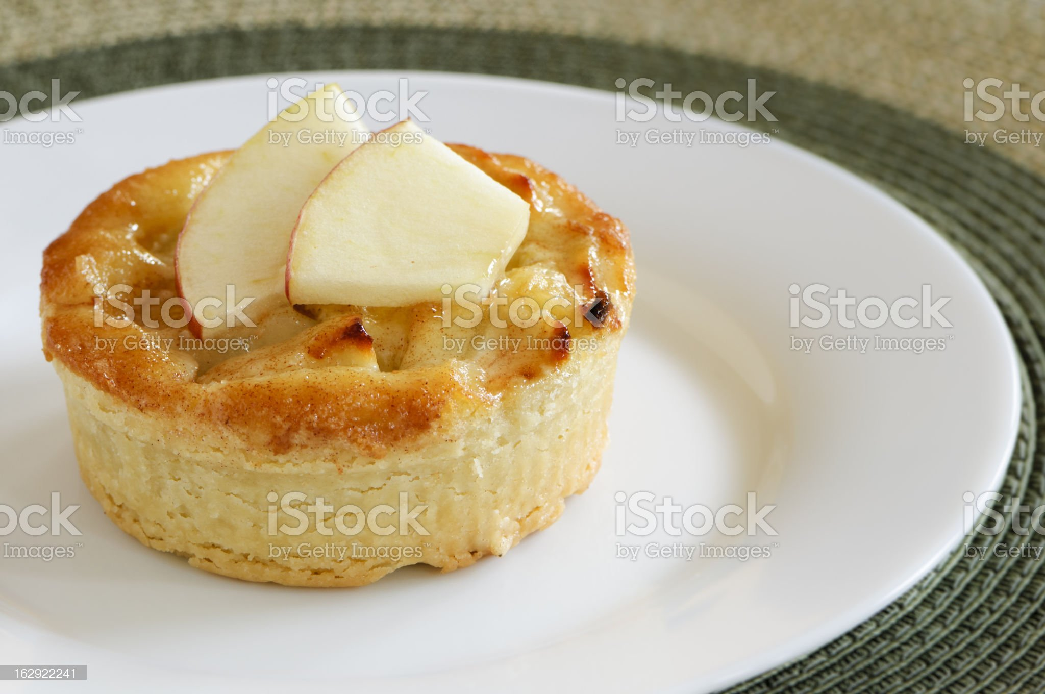Almond pastry with apple slices royalty-free stock photo