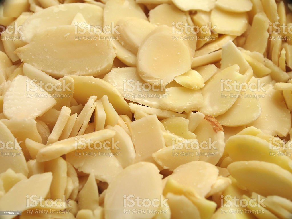 Almond Slices (Macro) royalty-free stock photo