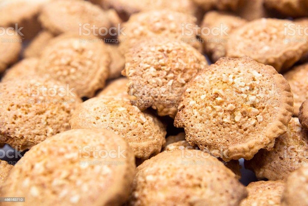 Almond tarts stock photo