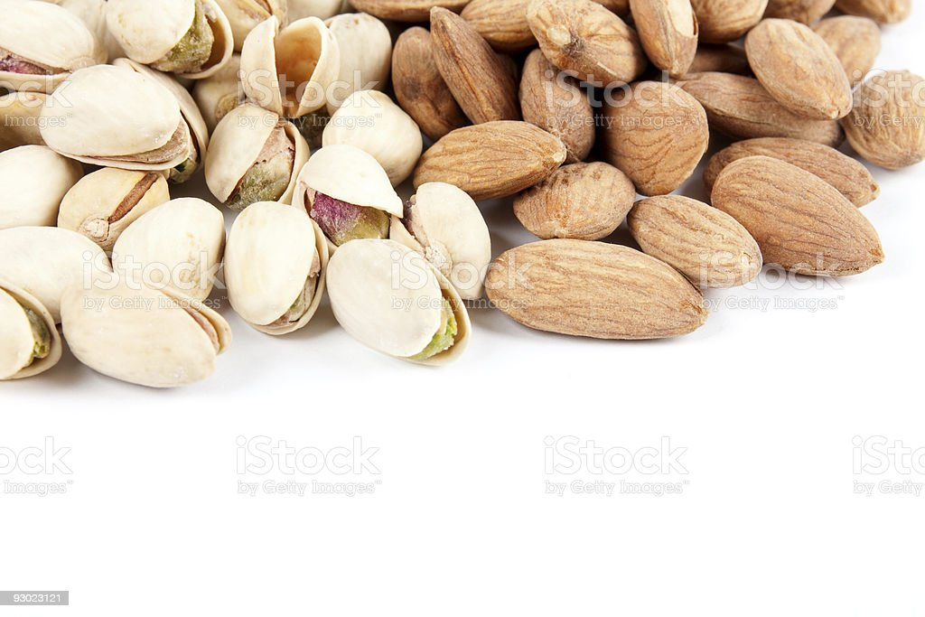 almonds and pistachios royalty-free stock photo