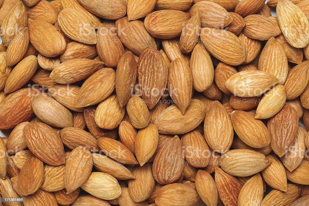 Almonds Background royalty-free stock photo
