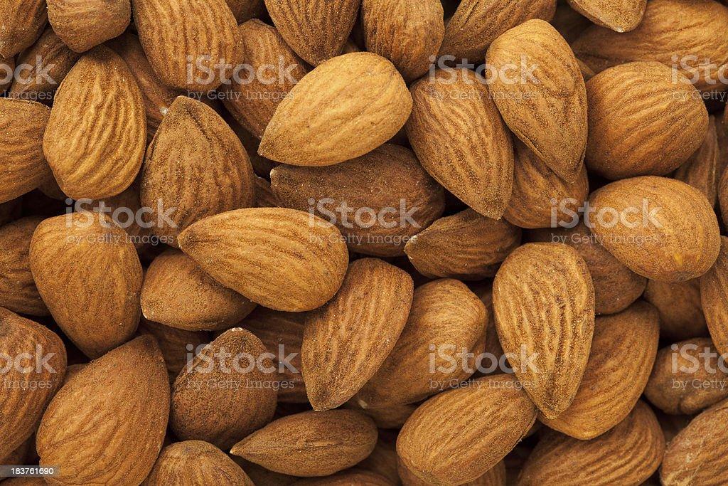 Almonds Background stock photo