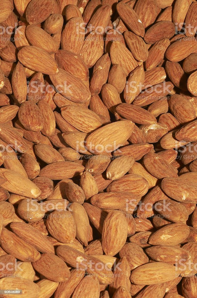 Almonds background royalty-free stock photo