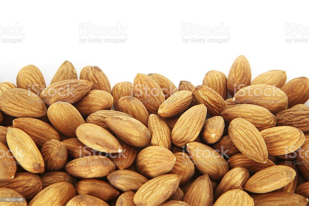 Almonds Edge royalty-free stock photo