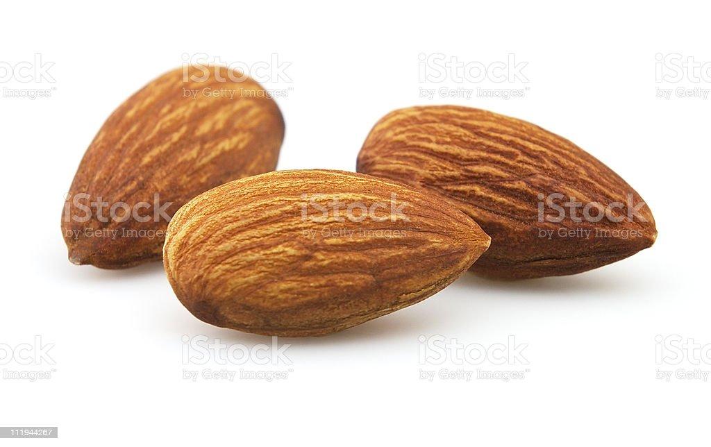 Almonds kernel stock photo
