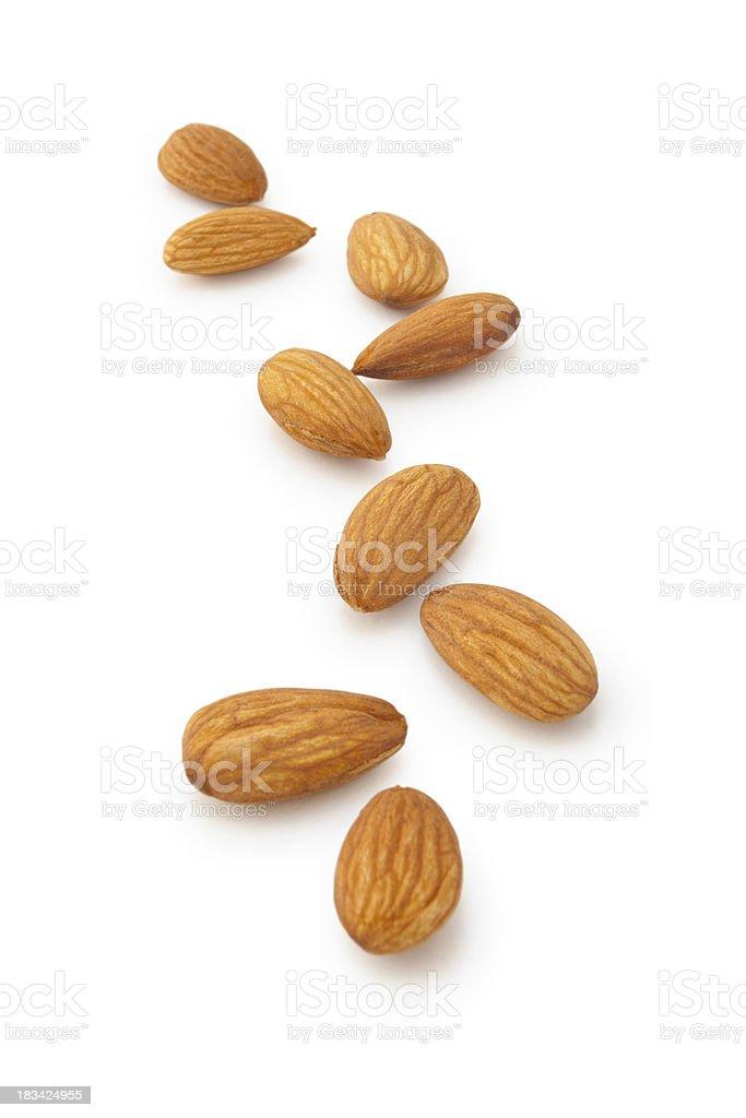 Almonds. stock photo