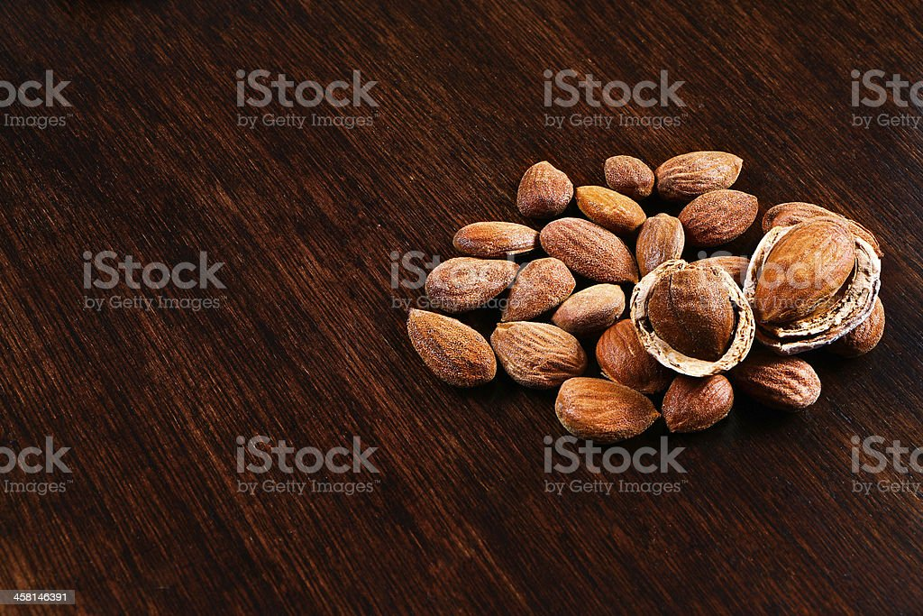 almonds shelled and with shell royalty-free stock photo