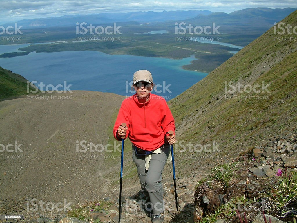 almost at the top royalty-free stock photo