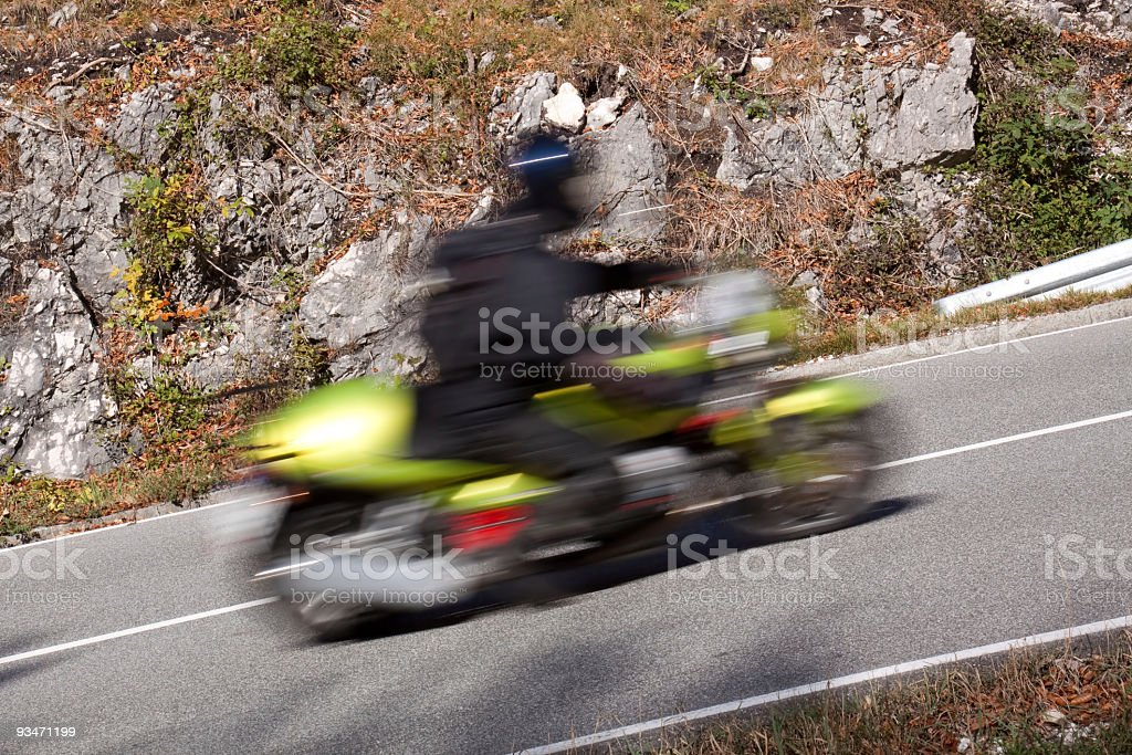 fast biker royalty-free stock photo