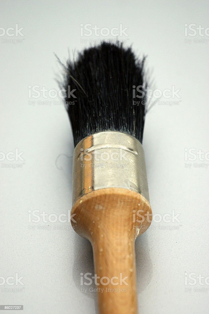 Almost Clean Paint Brush royalty-free stock photo