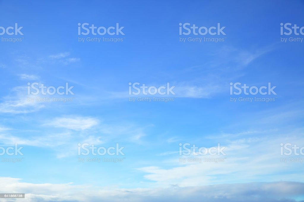 Almost clear blue sky stock photo