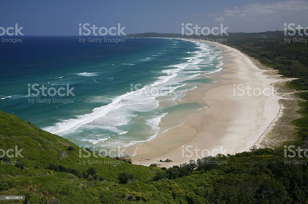 Almost deserted surf beach royalty-free stock photo