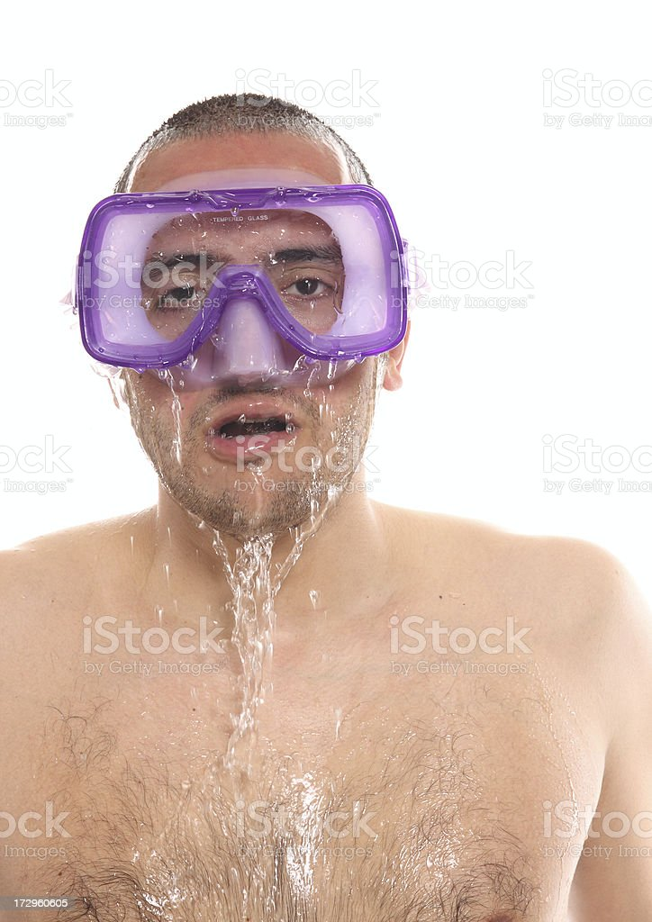 almost drowning royalty-free stock photo