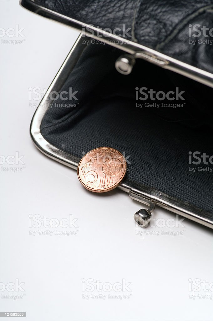 Almost Empty Wallet stock photo