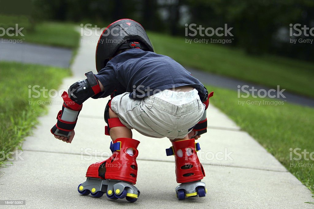 Almost Fell royalty-free stock photo