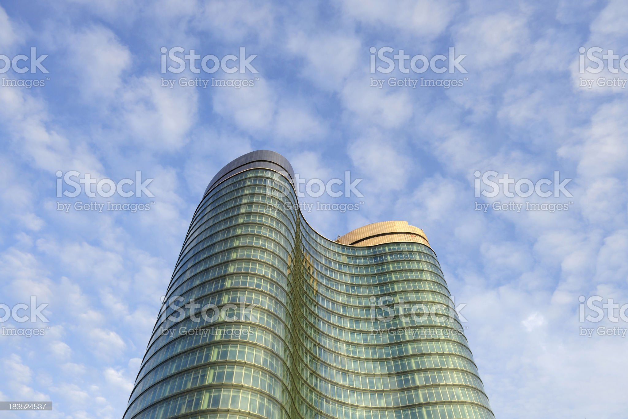 Almost finished office building in Utrecht the Netherlands royalty-free stock photo