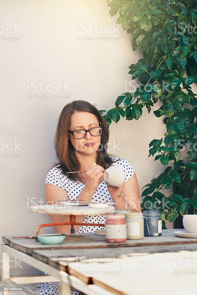 Almost finished stock photo