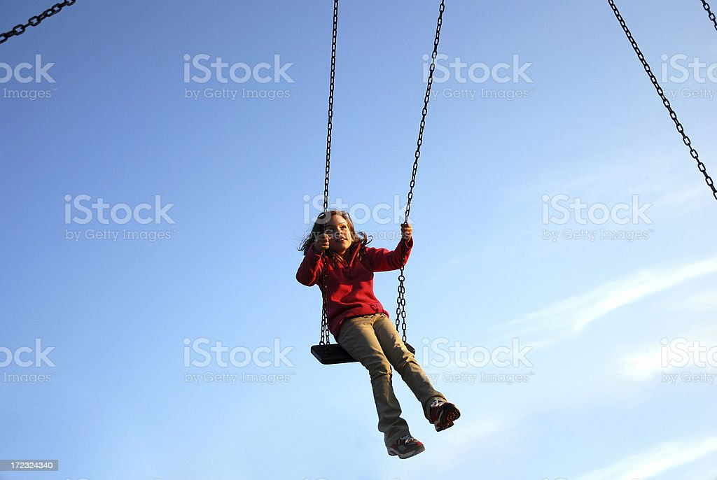 Almost flying royalty-free stock photo