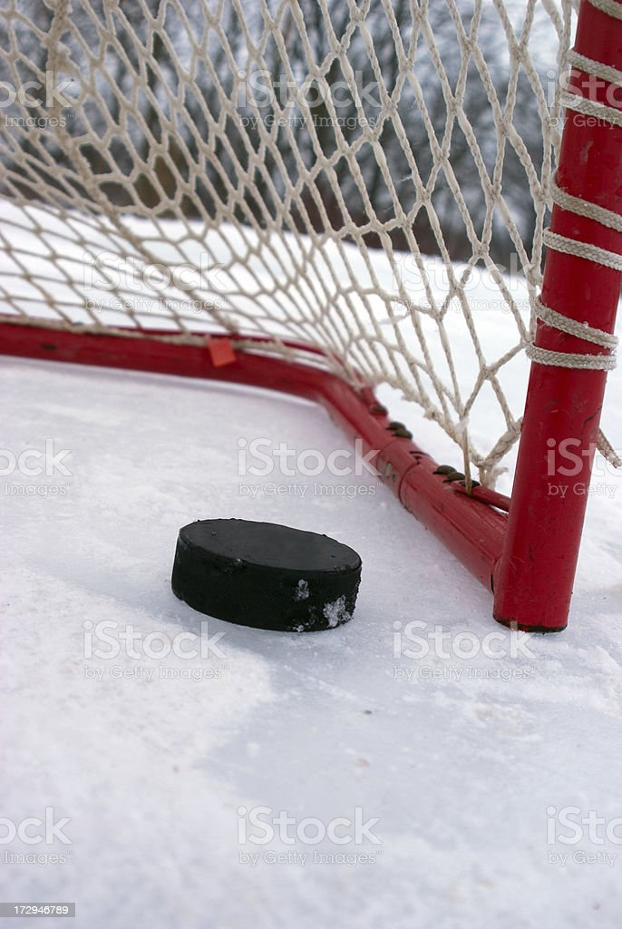 Almost in the Net stock photo