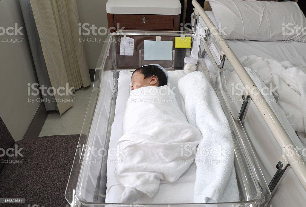 Almost newborn baby boy stock photo