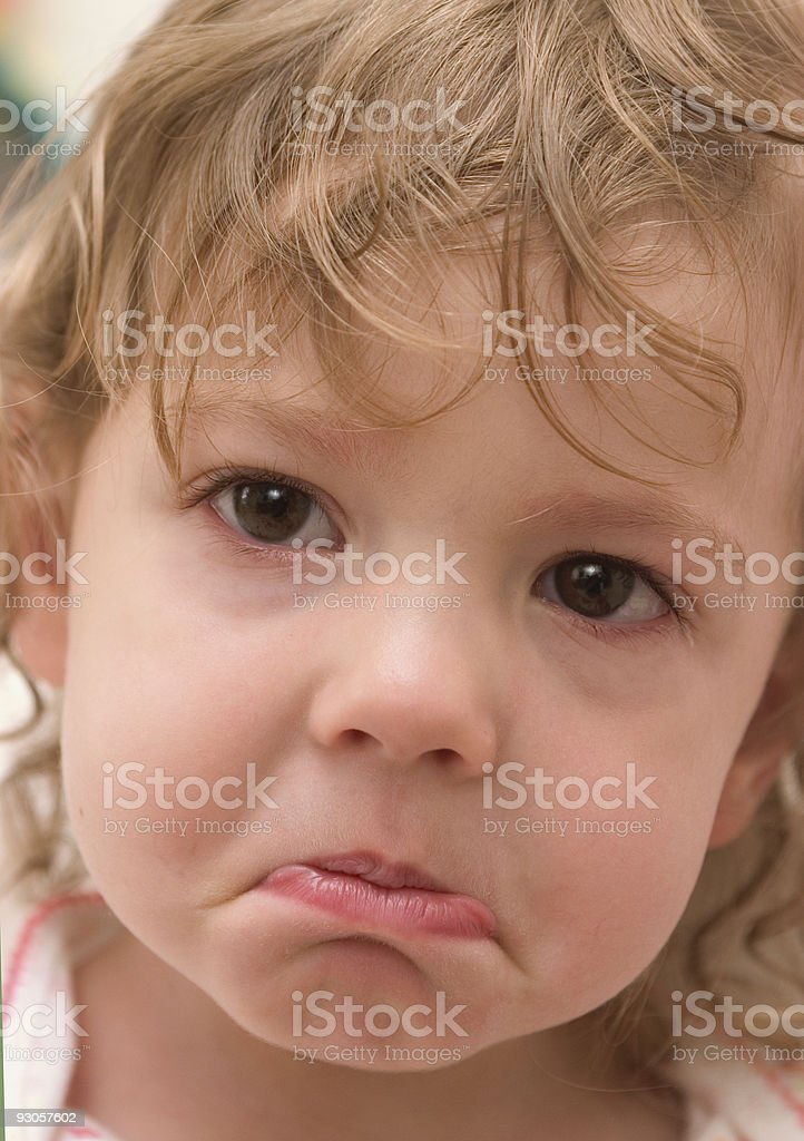 Almost Perfect Pout royalty-free stock photo